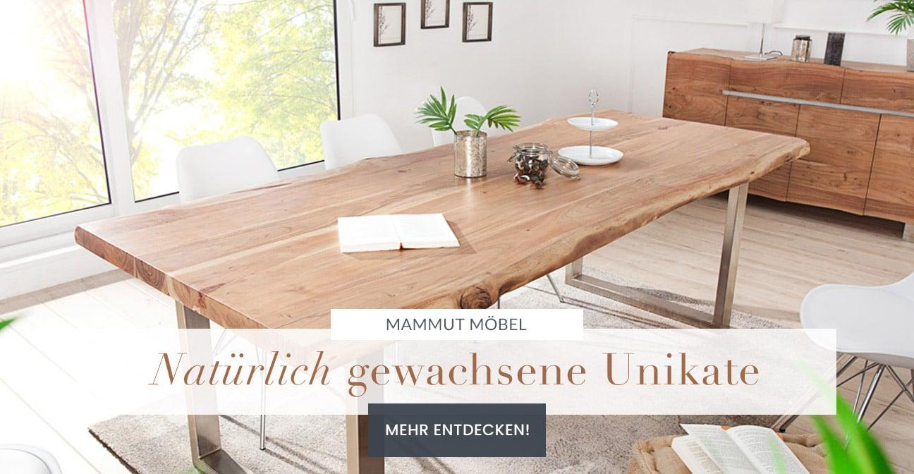 Massiver Baumstamm Esstisch Mammut Grau Akazie Varianten Industrial Baumkante Ebay