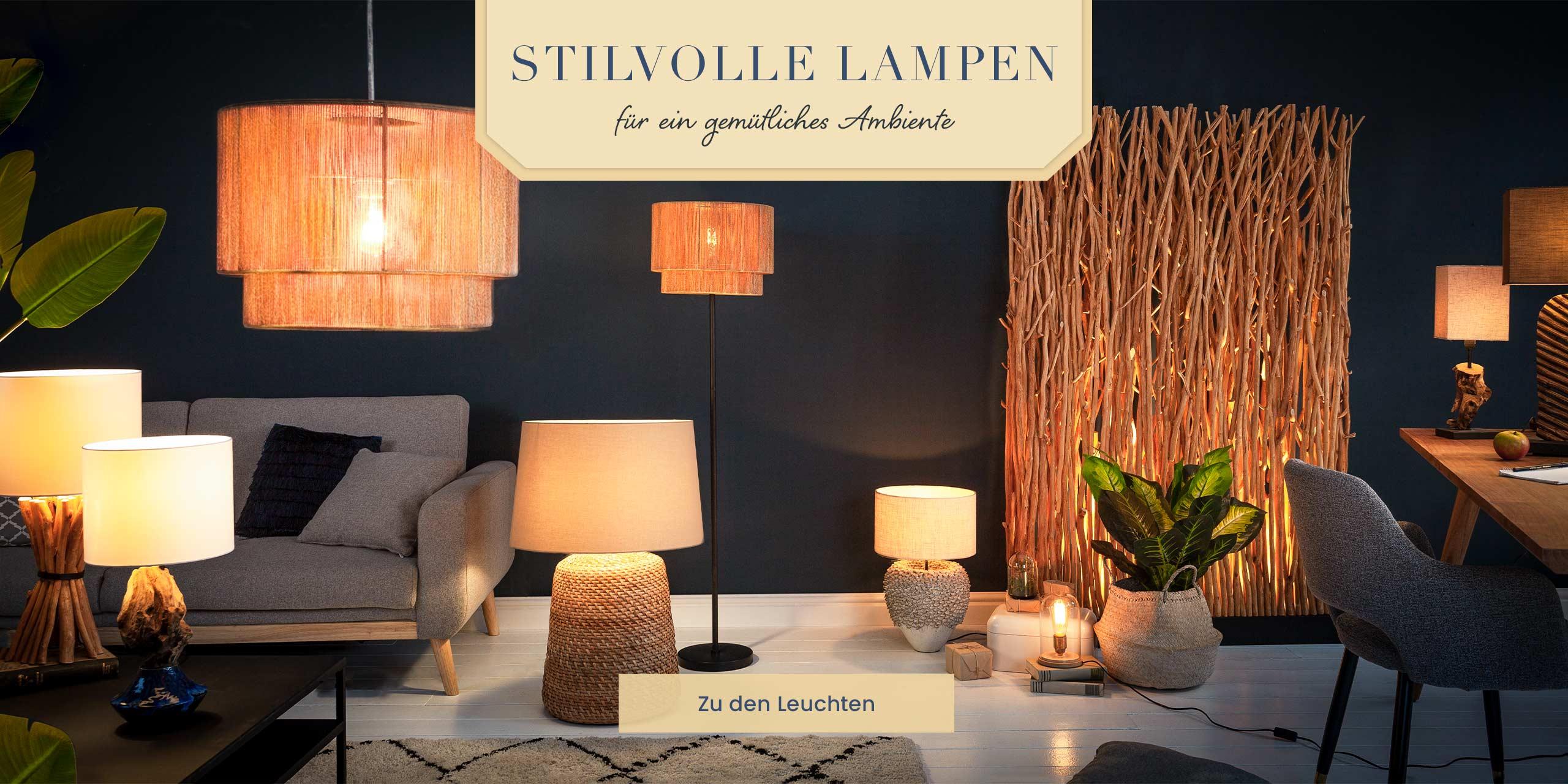 Slider 1 Stilvolle Lampen