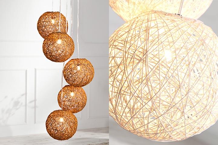 Stylische h ngeleuchte cocoon xl in wei 60cm lampe for Regal asiatisch