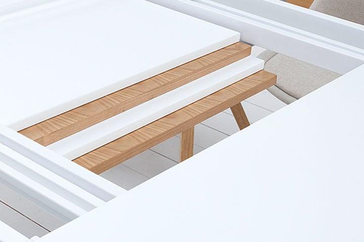 Ausziehbarer design esstisch atlantis xl wei hochglanz for Design esstisch concord