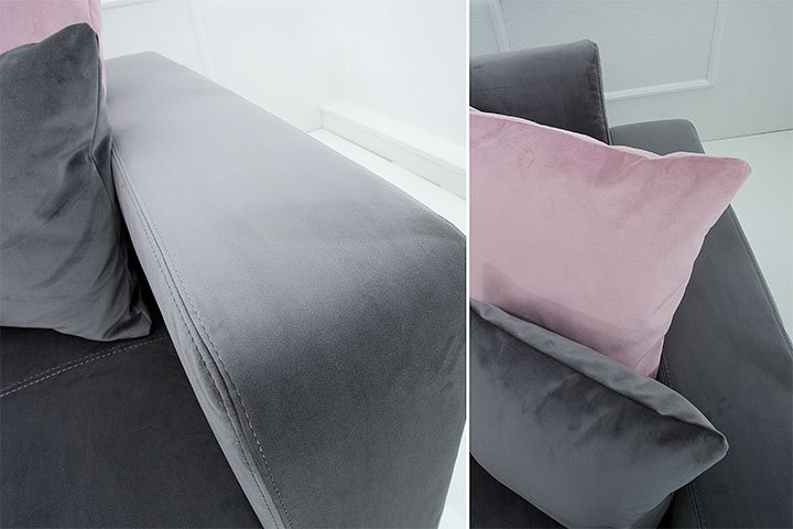 luxus boxspringbett cloud 180x200 cm anthrazit microvelour inkl matratze und topper hotelbett. Black Bedroom Furniture Sets. Home Design Ideas