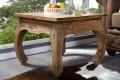 Luxuriöser Beistelltisch OPIUM Sheesham massiv 60x60cm