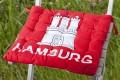 Design Sitzkissen SUMMER Hamburg Wappen 40x40cm