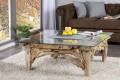 design couchtisch riverside teakholz beistelltisch mit runder glasplatte riess. Black Bedroom Furniture Sets. Home Design Ideas