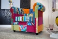 Design Chesterfield Sessel Patchwork PARADISE bunt