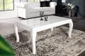 Stylischer Design Couchtisch BAROCCO 110cm weiß hochglanz