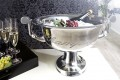 Eleganter Design Champagner-Kühler CHAMPAGNE 40cm Metall - Aluminium - Legierung poliert