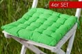 4er Set Design Sitzkissen SUMMER Lime 40x40cm