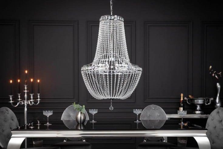 Extravaganter Kronleuchter GLORY 110cm Kristall Hängeleuchte