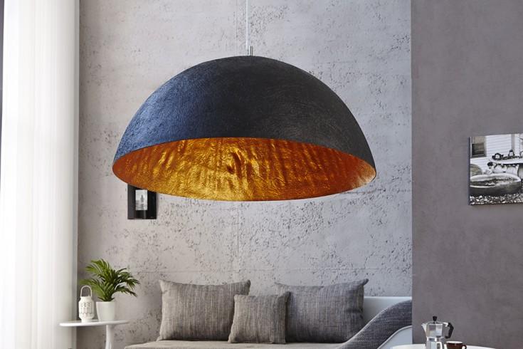 Elegante Design Hängeleuchte GLOW 70cm schwarz gold Hängelampe