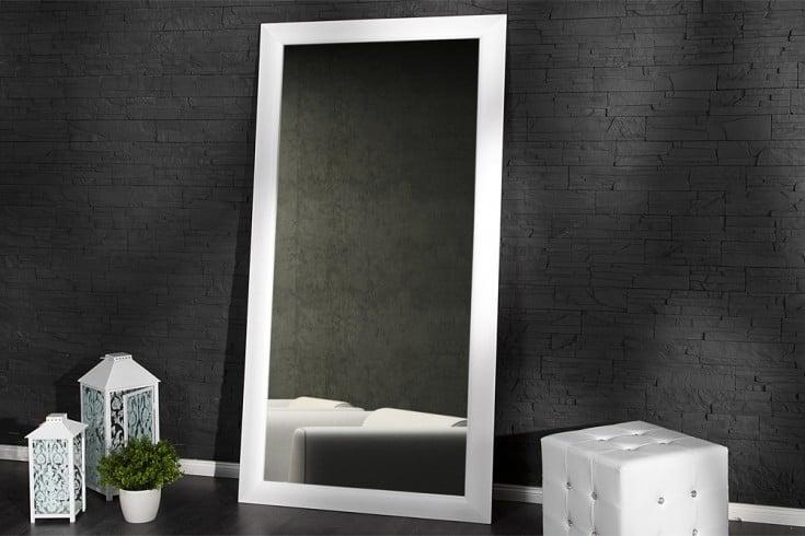 Großer Design Spiegel ESPEJO weiß matt 180x85 cm Wandspiegel Standspiegel