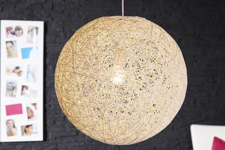 Stylische Hängeleuchte COCOON L in weiß 45cm Lampe