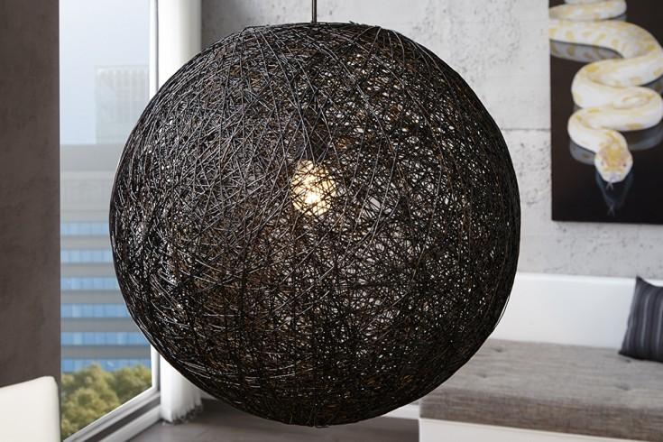 Stylische Hängeleuchte Cocoon XL in schwarz 60cm