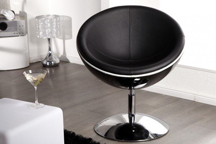 Design Cocktail Sessel GALAXY schwarz