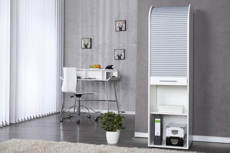 Hochwertiger Design Registerschrank RODILLO 165cm weiss silber Aktenschrank
