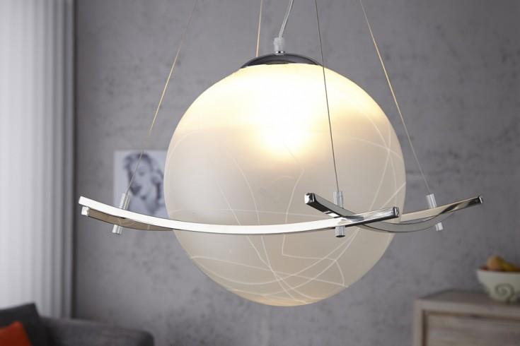 Design Hängeleuchte GLOBO weiss Opalglas