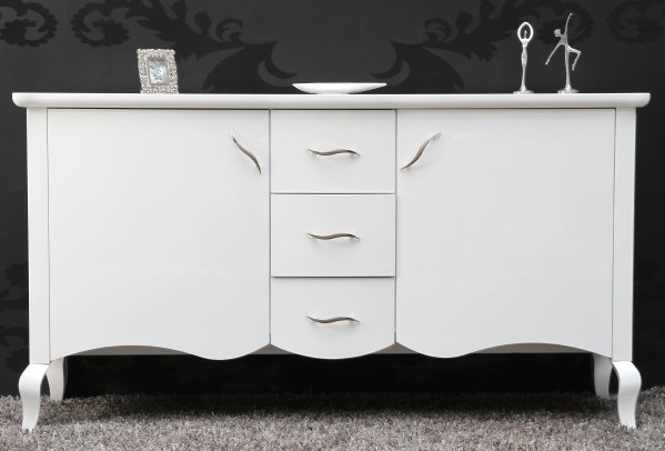 design sideboard barocco im barock stil weiss hochglanz riess ambiente onlineshop. Black Bedroom Furniture Sets. Home Design Ideas