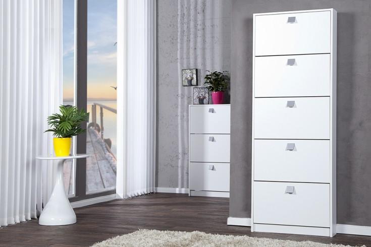 design schuhkipper merano xxl edelmatt wei 5 klappen schuhschrank riess. Black Bedroom Furniture Sets. Home Design Ideas