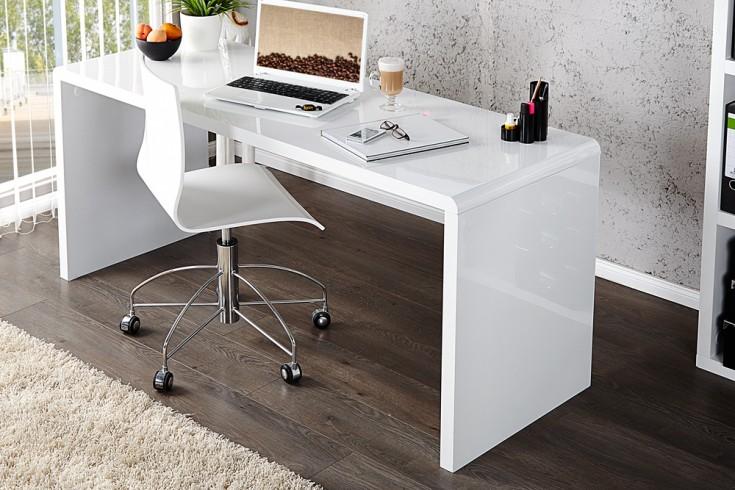 Design schreibtisch fast trade hochglanz weiss 140cm for Exklusive schreibtisch accessoires