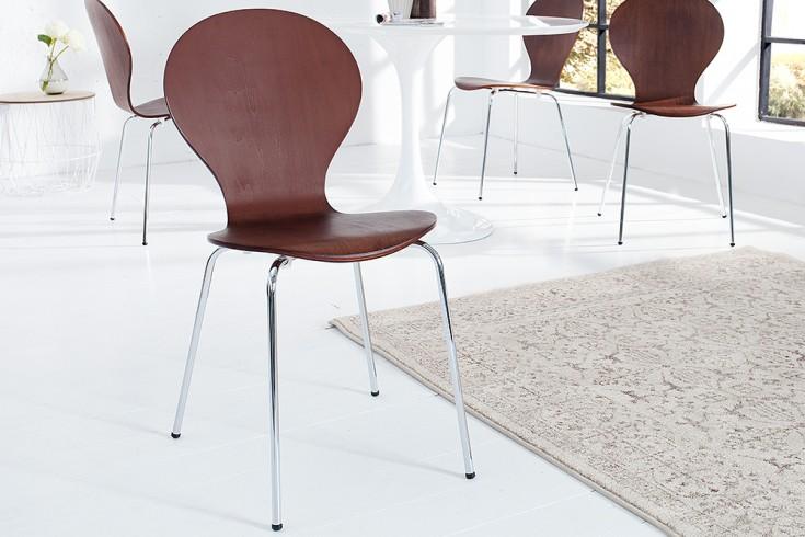 Design Stuhl FORM Designklassiker aus hochwertigem Formholz coffee stapelbar