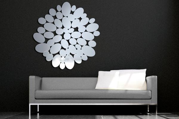 Faszinierender Wandspiegel TEARS Spiegel 110 cm Tropfen Form