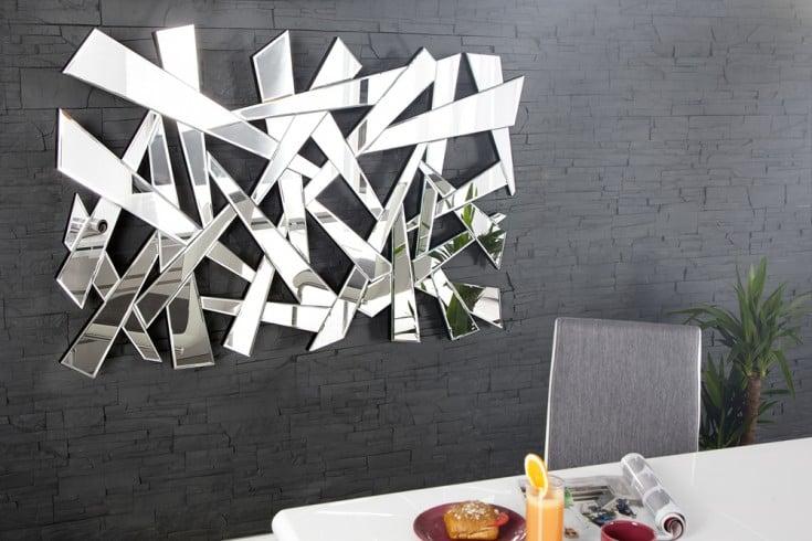 gro er design wandspiegel split 130 cm dreieckige formen. Black Bedroom Furniture Sets. Home Design Ideas