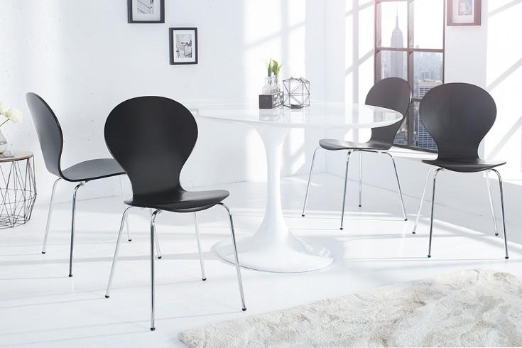 4er SET Stuhl FORM Designklassiker aus hochwertigem Formholz schwarz stapelbar