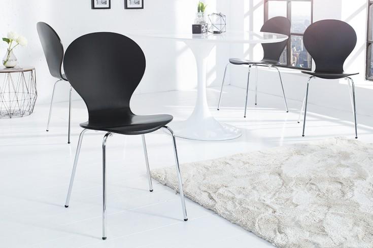 Design Stuhl FORM Designklassiker aus hochwertigem Formholz schwarz stapelbar