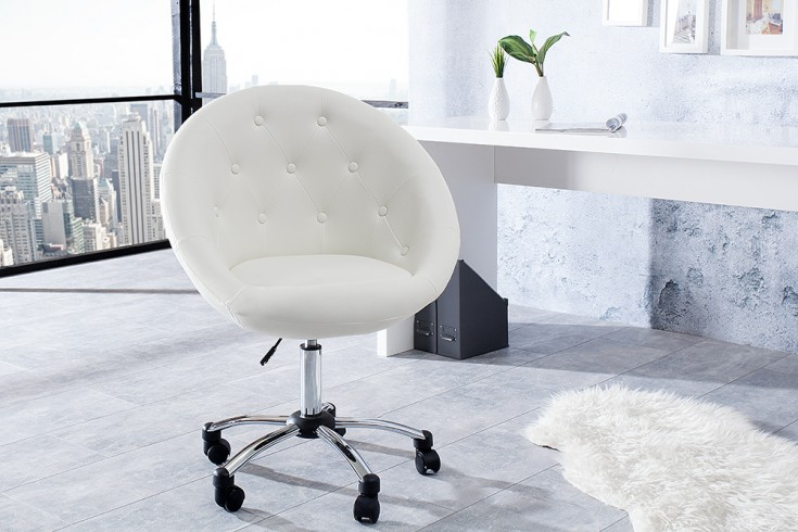 Bürosessel weiß  Drehstuhl weiß: Loungeklassiker trifft auf ergonomische Formen ...