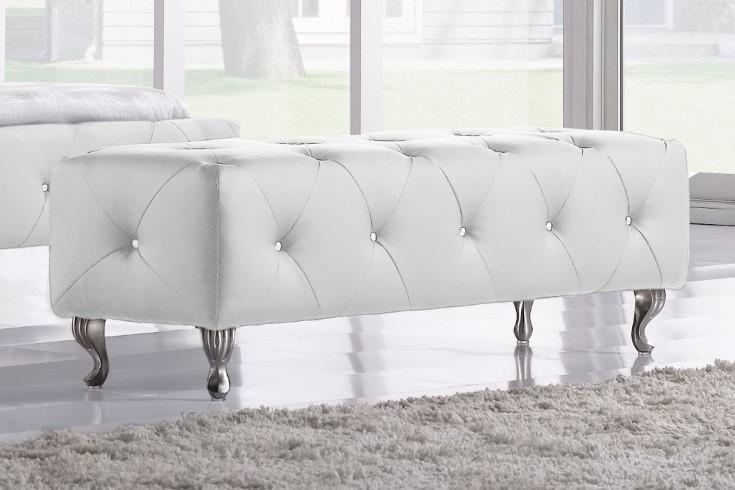 hocker zum bett goya fu bank weiss kristalle riess ambiente onlineshop. Black Bedroom Furniture Sets. Home Design Ideas