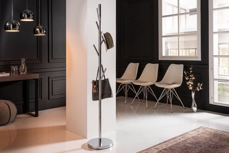 Moderner Garderobenständer TREE 170cm silber Chrom Kleiderständer