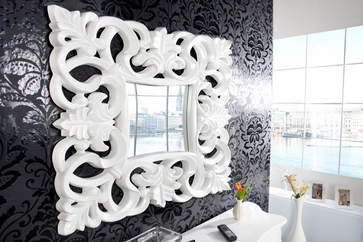 Opulenter Barock Spiegel VENICE weiß antik Wandspiegel 75cm