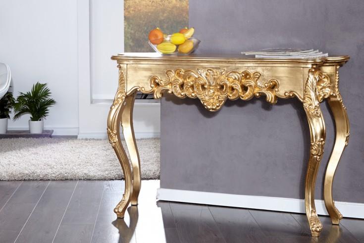 Elegante Barocke Konsole VENICE gold 110cm
