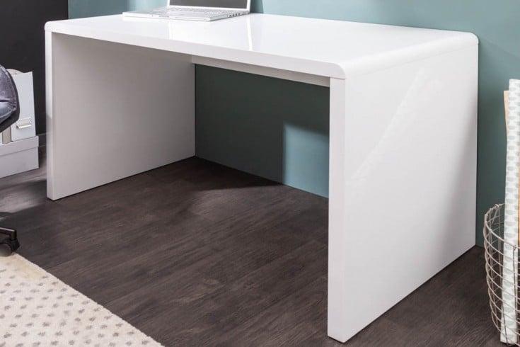 Design Schreibtisch FAST TRADE 120cm weiß Hochglanz Bürotisch