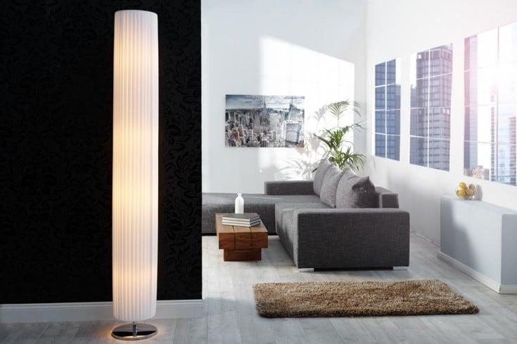 Riesige glamouröse Art Deco Stehlampe SALONE 200cm weiss