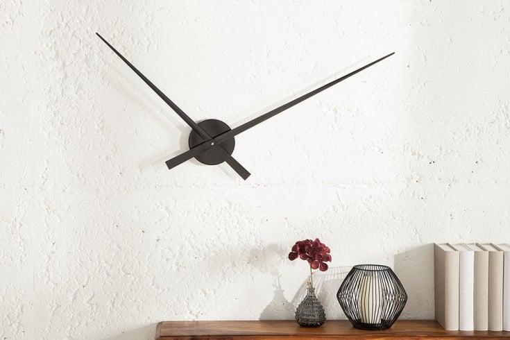 Riesige Design Wanduhr SIMPLE TIME Metall-Aluminium-Legierung schwarz 80cm