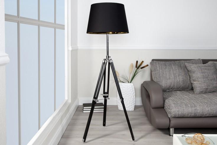 Elegante Design Stehlampe SYLT höhenverstellbar schwarz