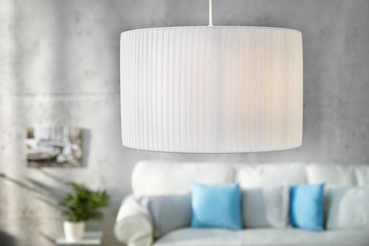 Elegante Design Hängelampe SOBRIETA weiss 40 cm
