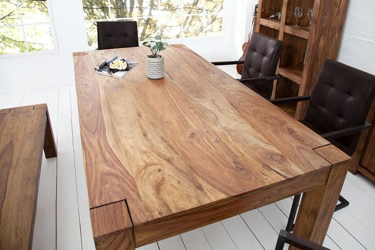 Exklusiver Massiver Esstisch Sheesham MAKASSAR 160cm Tisch einzigartige Maserung