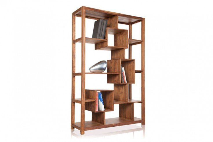 Massives Bücherregal CUBE XL Sheesham 180cm