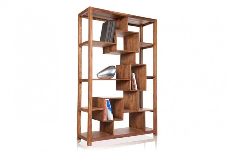 Massives Bücherregal CUBE XL Sheesham 180cm