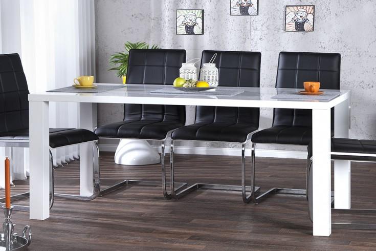 Moderner Design Esstisch LUCENTE 160cm weiß Hochglanz