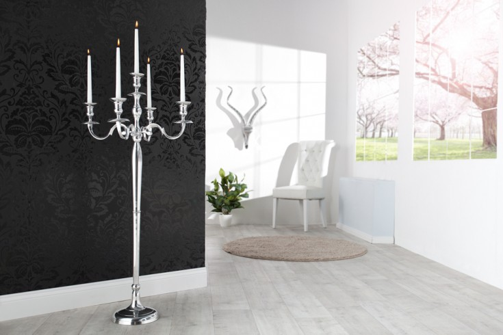 riesiger kerzenst nder 5 armig l ster 120cm metall. Black Bedroom Furniture Sets. Home Design Ideas
