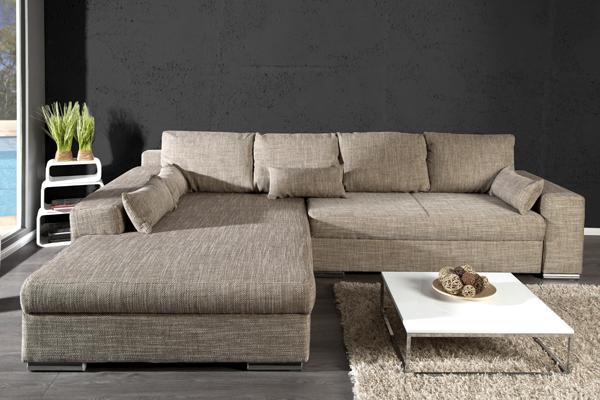 design wohnlandschaft vincenza cappuccino strukturstoff. Black Bedroom Furniture Sets. Home Design Ideas