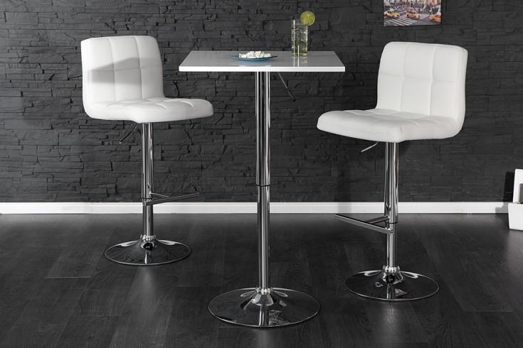 Design Stehtisch MOVE weiss Bistrotisch höhenverstellbar Bartisch Tisch
