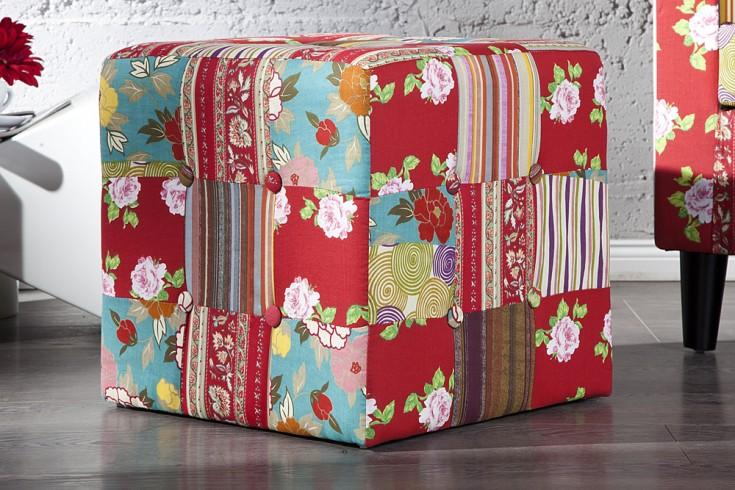 Design Patchwork Sitzhocker IBIZA mehrfarbig Hocker