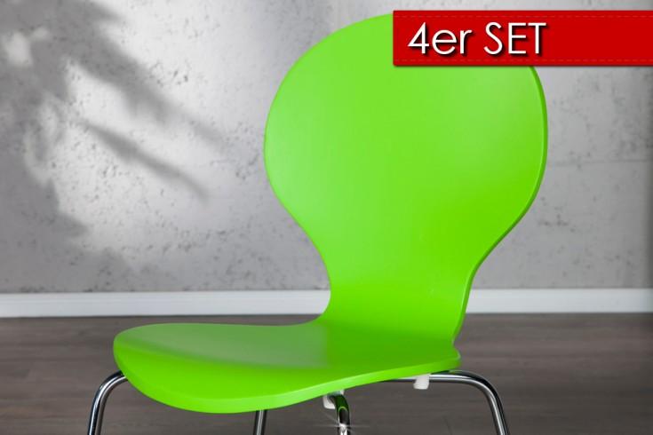 4er Set Design Stuhl FORM grün