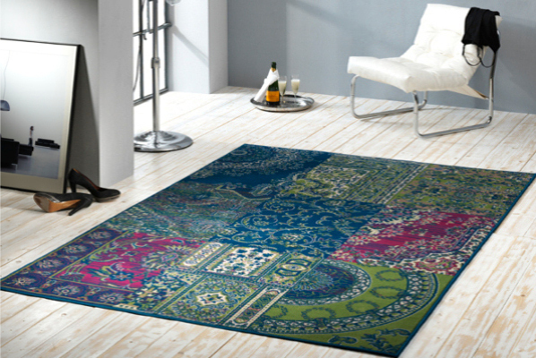 gro er design patchwork teppich copper 160x230 cm vintage riess. Black Bedroom Furniture Sets. Home Design Ideas