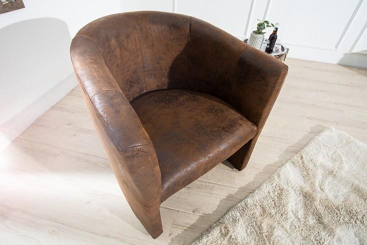 Stylischer Clubsessel ART DECO braun Antik Sessel Clubsessel