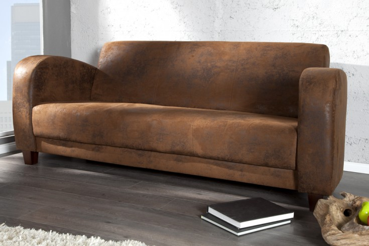 Eleganter 3-Sitzer HAVANNA LOUNGE braun Lounge Sofa